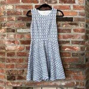 Blue picnic patterned dress!